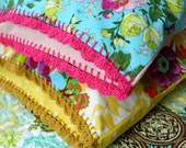 Crochet edged pillowcase