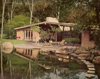 1958 House Beautiful Treasury of Contemporary American Homes mid century modern design book