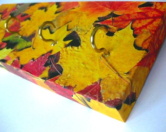 Leaves Key Rack Jewelry Holder Organizer Fall Changing Leaves Red Orange Yellow Holiday Decoration Autumn Fall Home - Autumn Leaves