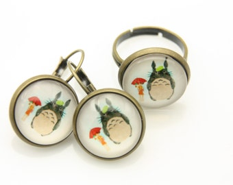 All earrings and ring totoro