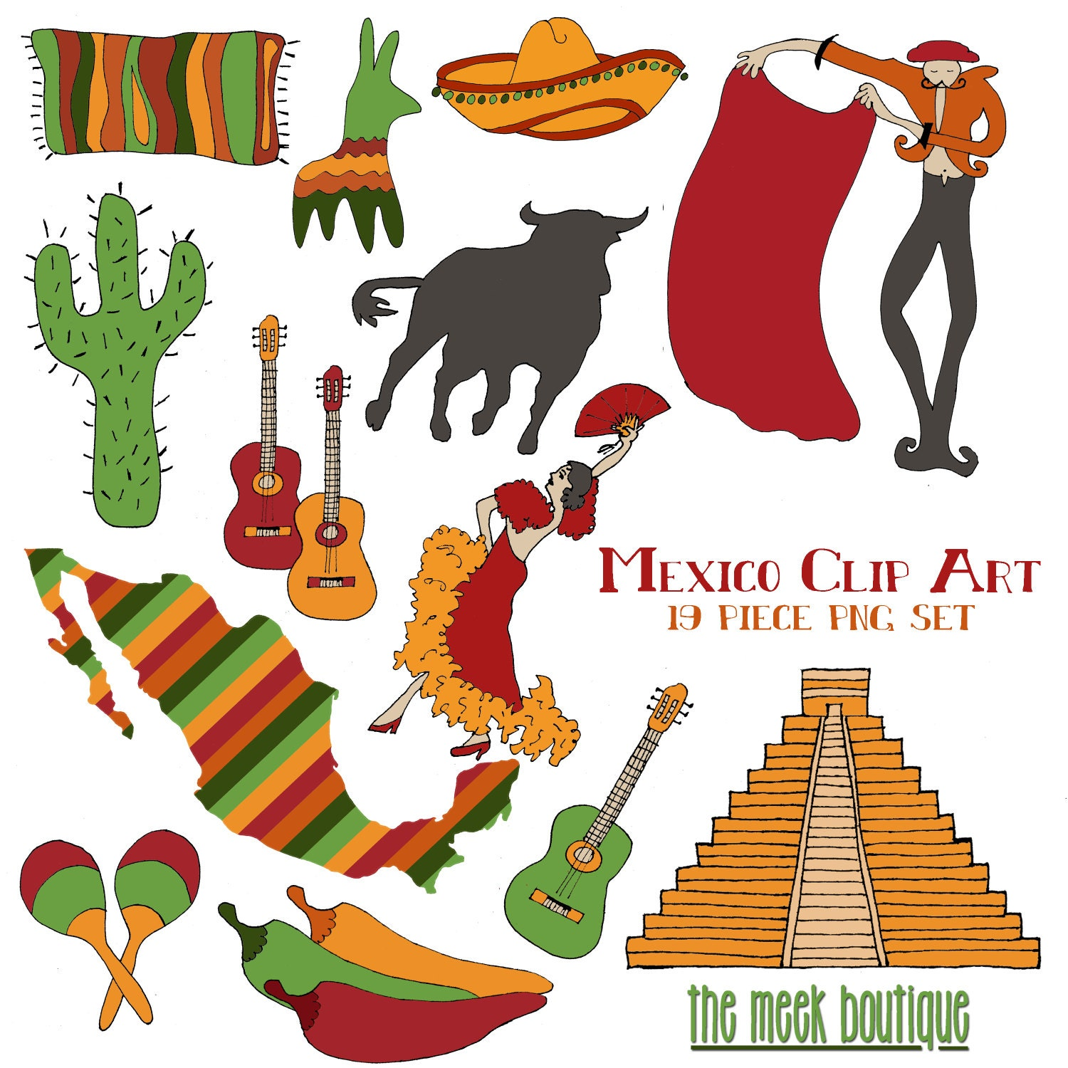 Gallery For > Mexican Donkey Pinata Clipart
