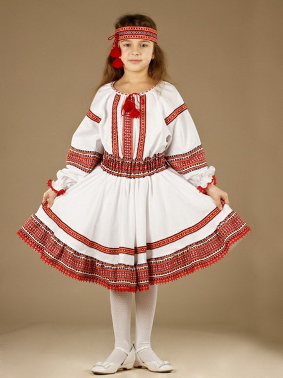 Ukrainian Children39s Dress Embroidery Vyshyvanka Dress
