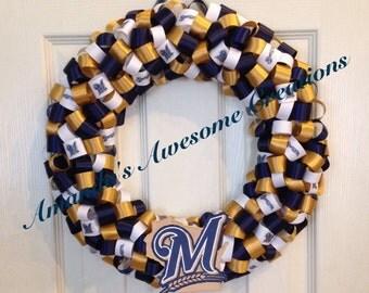 Milwaukee Brewers Ribbon Wreath