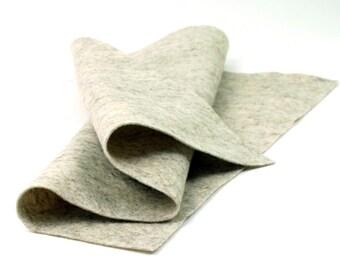 """100 Percent Wool Felt Sheet in Color HEATHER BEIGE - 18"""" X 18"""" Wool Felt Sheet - Merino Wool Felt"""