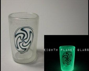 Shot Glass - Spiral Galaxy - Glow in the Dark