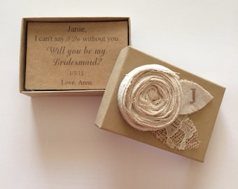 Will you be my bridesmaid - Maid of Honor inivite bridesmaid gift box