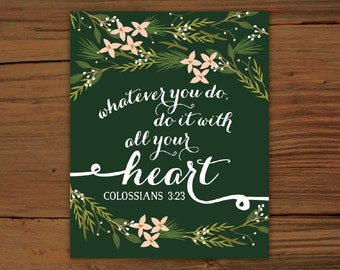 Colossians 3:23 Print