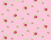 Pam Kitty: Favorite Mini Floral Pink 1/2 Yard Cut