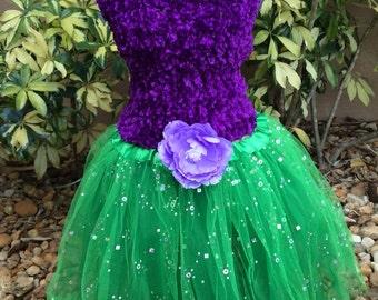 Little Mermaid Costume, Little Mermaid tutu, Green tutu, Princess Tutu, Princess Costume, Fairy Tutu, Fairy Costume, Little Mermaid Dress