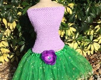 Little Mermaid Dress, Purple Fairy Dress, Green Tutu, Little Mermaid Party Favors, Tutu Dress, Purple Tutu Dress, Fairy Dress