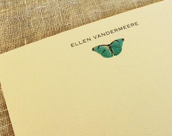 Personalized Notecard Butterfly Set of 24 With Envelopes