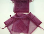Plum Purple Wine Organza Gift Bag 3x4