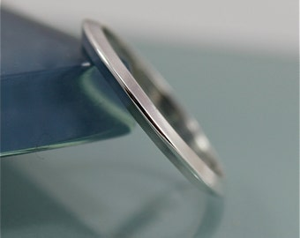 Triangle UFO Flying Saucer Sterling Silver Simple Stacking Band Ring Recycled Eco-Friendly Sourced
