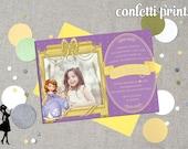 SOFIA THE FIRST Birthday Invitation / Photo Card Printable