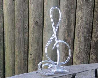 Wire Sculpture Treble Clef
