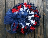 Patriotic Wreath, Memorial Day Wreath, 4th of July Wreath