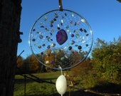 """Aquarius Sign Astrological Hand Woven Silver 5"""" Native American Dream Catcher by The Emerald Lotus"""