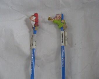 2 SNOW WHITE COLLECTIBLE Pencils