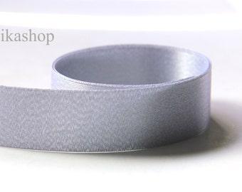3 yards 5/8 inch 15mm Double Sided Metallic Silver Satin Ribbon (KR0037) - Fikashop