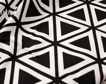Yard - Black or Gray Triangle with White (2 colors) 100% Cotton by Gage - Fikashop