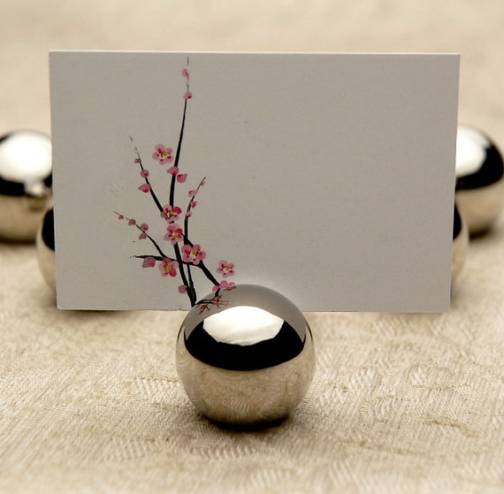 Items similar to escort name place card holder wedding for Place settings name card holders