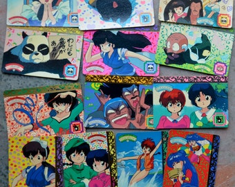 A Set of  13 Japanese Anime Collectible Cards (Ranma 1/2)