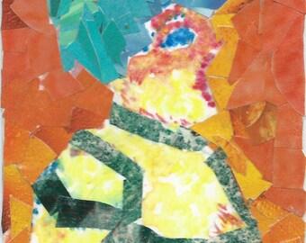 Original ACEO Collage- Singer