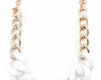 Rose Gold Statement Necklace chunky necklace statement jewelry bracelet VOGUE