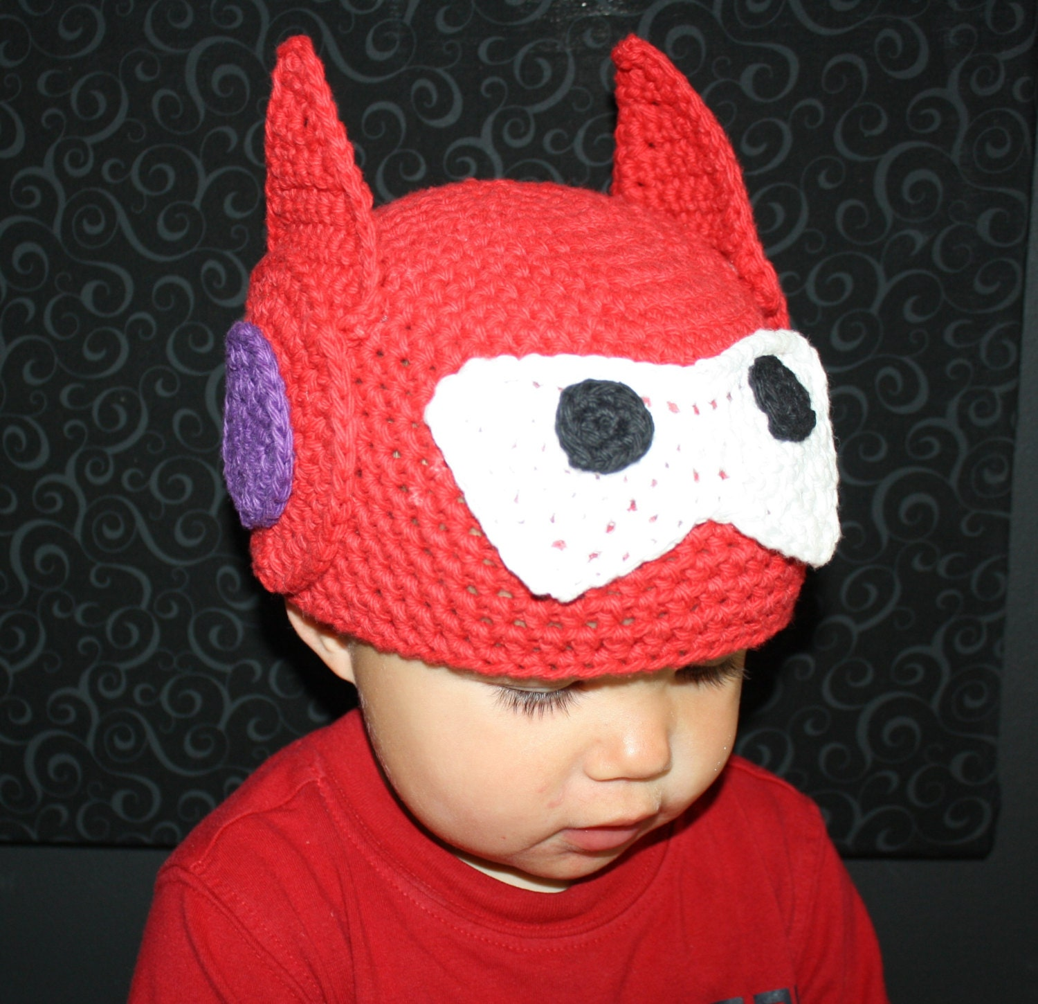 Big hero 6 baymax hat easy crochet pdf pattern infant zoom bankloansurffo Gallery