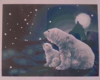 Polar Bear Cross Stitch Kit