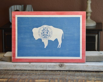 Wyoming Flag ~Wooden
