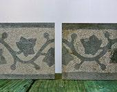 Antique Italian terrazzo floor tiles