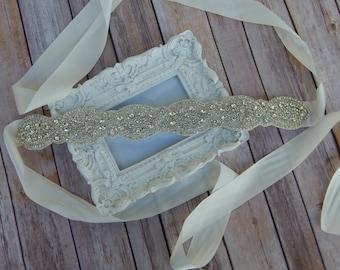 Crystal Sash, Bridal Sash, Sash, Satin Sash, Crystal Beaded Sash, Bridal Belt, Wedding Belt, Crystal Belt, Crystal Bridal Sash,