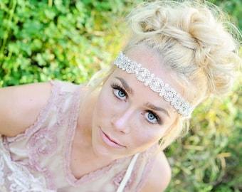 Crystal Headband ,Bridal Headband, Vintage Headband, wedding hair piece, crystal headband, headpiece , headband, bridal headband