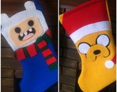 Adventure Time felt christmas stockings - SewSoGeeky