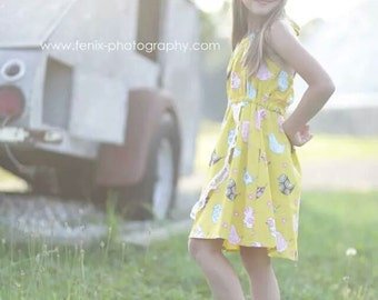 Yellow Girls Dress/ SALE