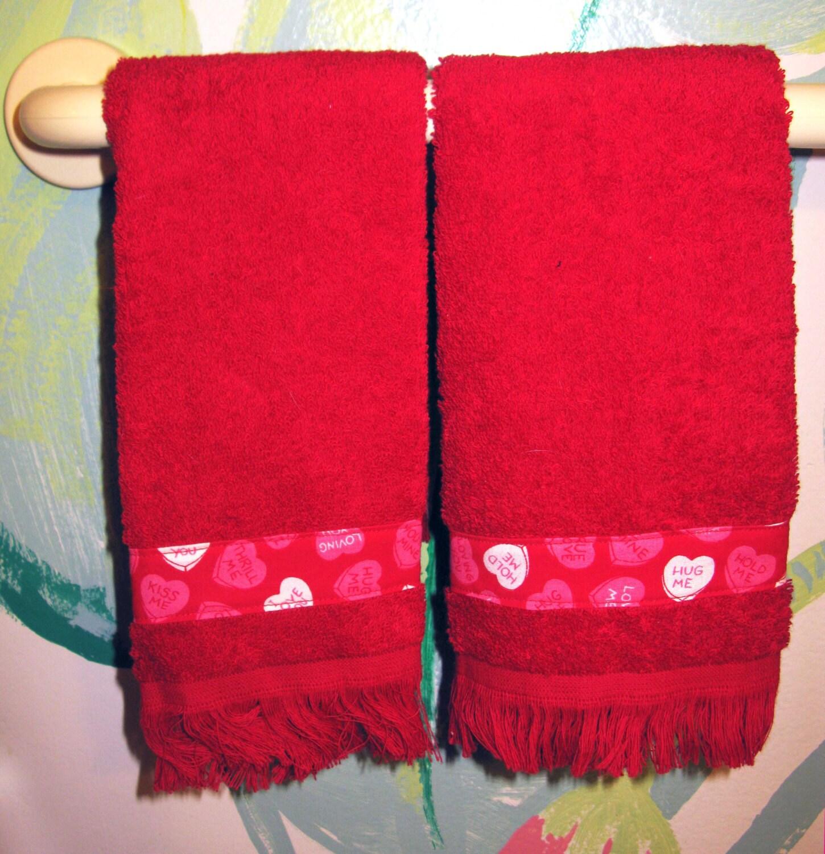 Valentine Fingertip Guest Towels