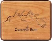 CLACKAMAS RIVER MAP Fly F...