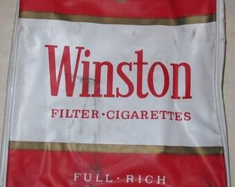 """vintage winston cigarettes 15"""" travel bag"""