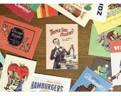Vintage romantic vintage label sticker set by Nacoo