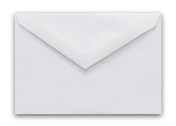 """A1 (4 BARONIAL) White Envelope Reply Card Triangle Flap Choice 25-250 Qty Packs (Size 3 5/8"""" x 5 1/8"""")"""