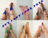 Buy 5 get 1 free Wedding Favor Baby Shower,Wedding Barefoot Sandals and bracelet,