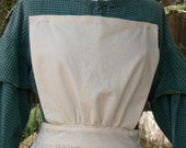 Civil War Pinner Apron Victorian Ladies Tie Half Skirt Colonial Bib