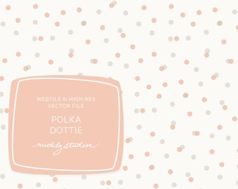 Polka Dot, repeating web tile, seamless pattern, digital paper, website background, blog background, vector, psd file