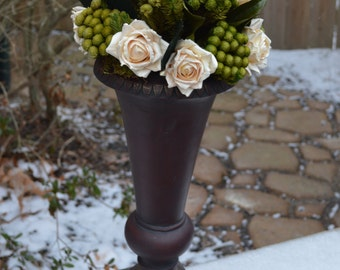 Floral Centerpiece, Rose Flower Arrangement, Preserved Floral Arrangement, Mantel Floral Arrangement