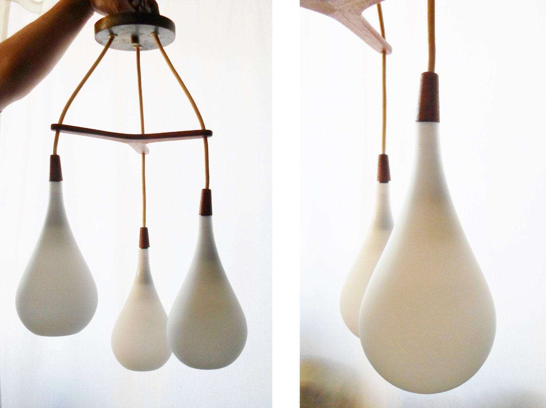Danish Modern Chandelier Light Tear Drop Lighting