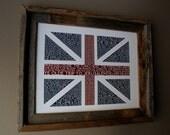 British Pubs Union Jack Flag Print