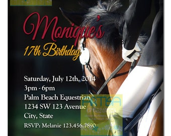 Equitation Invitation Printable - Equestrian Birthday Invitation - Horse Invitation - Equitation Invitation ANY OCCASION - Equitacion Invita