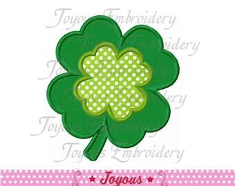 Instant Download  Four Leaf Clover Applique Machine Embroidery Design NO:1457
