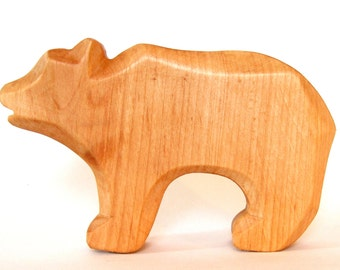 Bear, Waldorf toys, Carved wooden animals